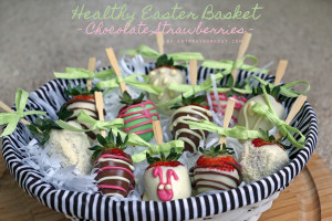 Healthy Easter Treats - chocolate strawberries easter