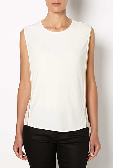 Witchery white top gold trim Eat Pray Workout Mothers Day Gift.jpg 2