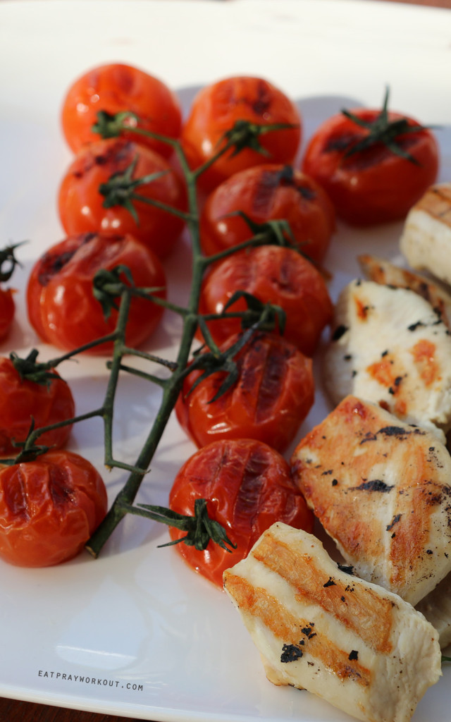 BBQ Chicken and balsamic tomato