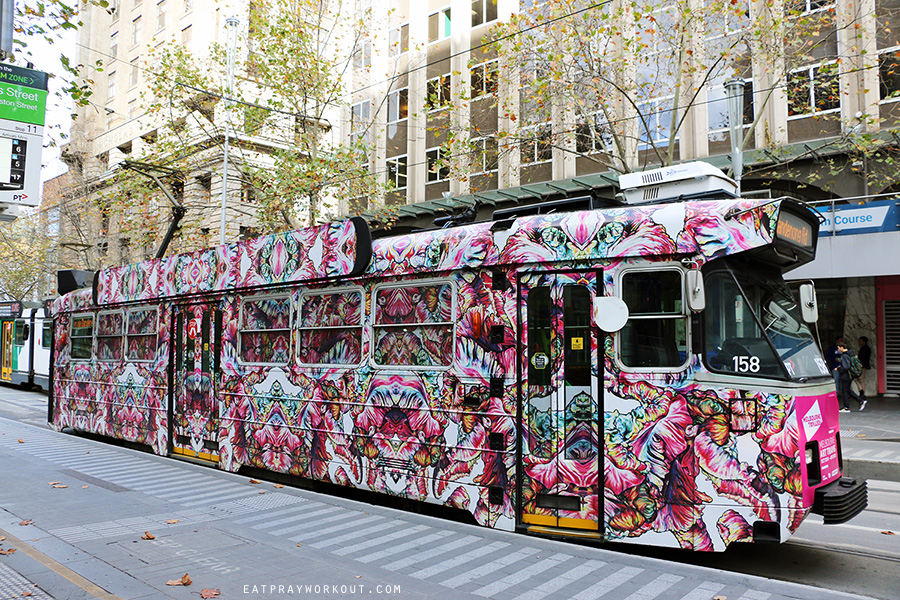 Eat Pray Workout Brunetti Melbourne CBD tram