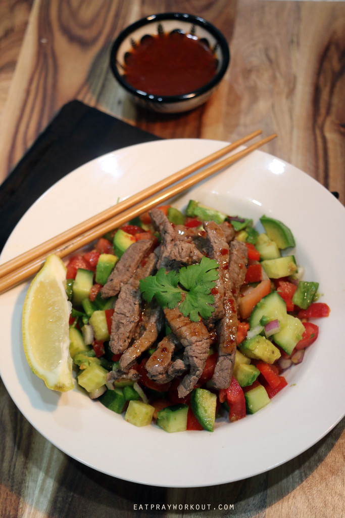 Sweet Chilli Thai Beef Salad Eat Pray Workout 1