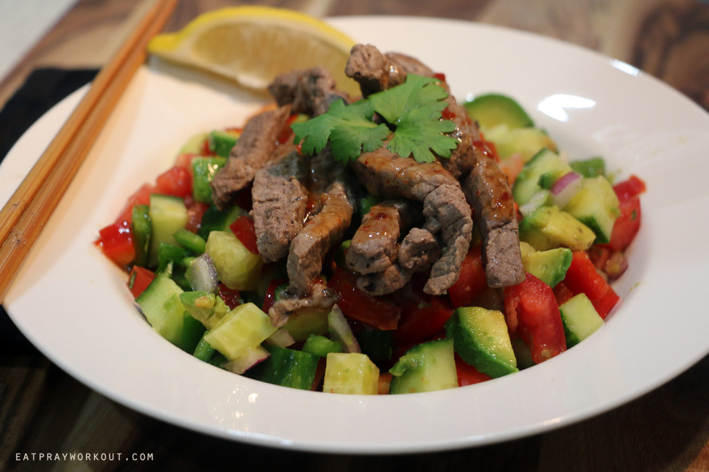 Sweet Chilli Thai Beef Salad Eat Pray Workout 4