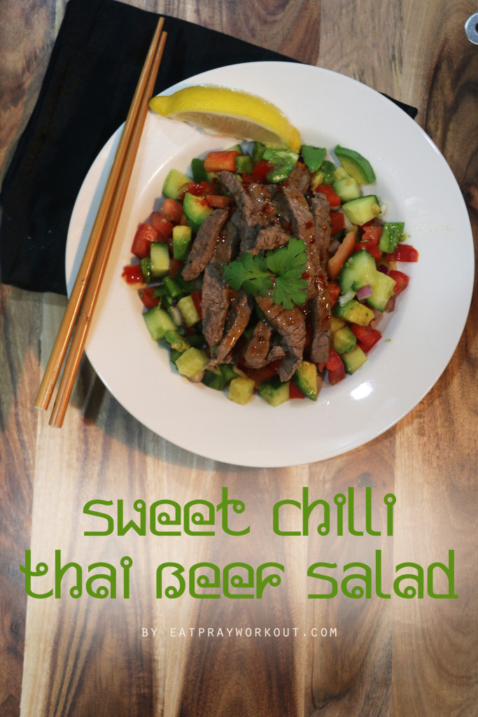 Sweet Chilli Thai Beef Salad Eat Pray Workout 5