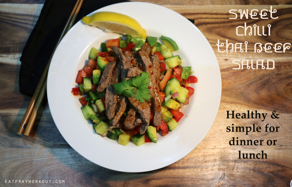 Sweet Chilli Thai Beef Salad Eat Pray Workout 6