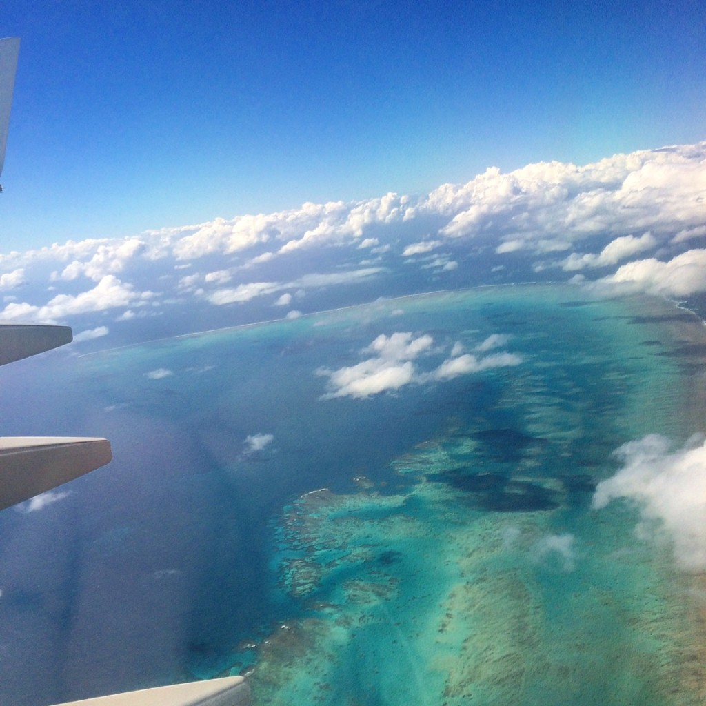 Great Barrier Reef flight view Eat Pray Workout