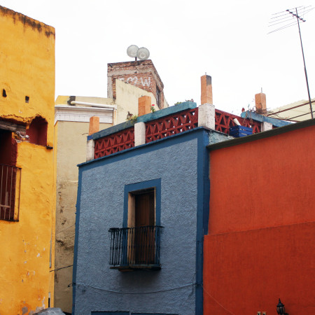 Mexico coloured buildings