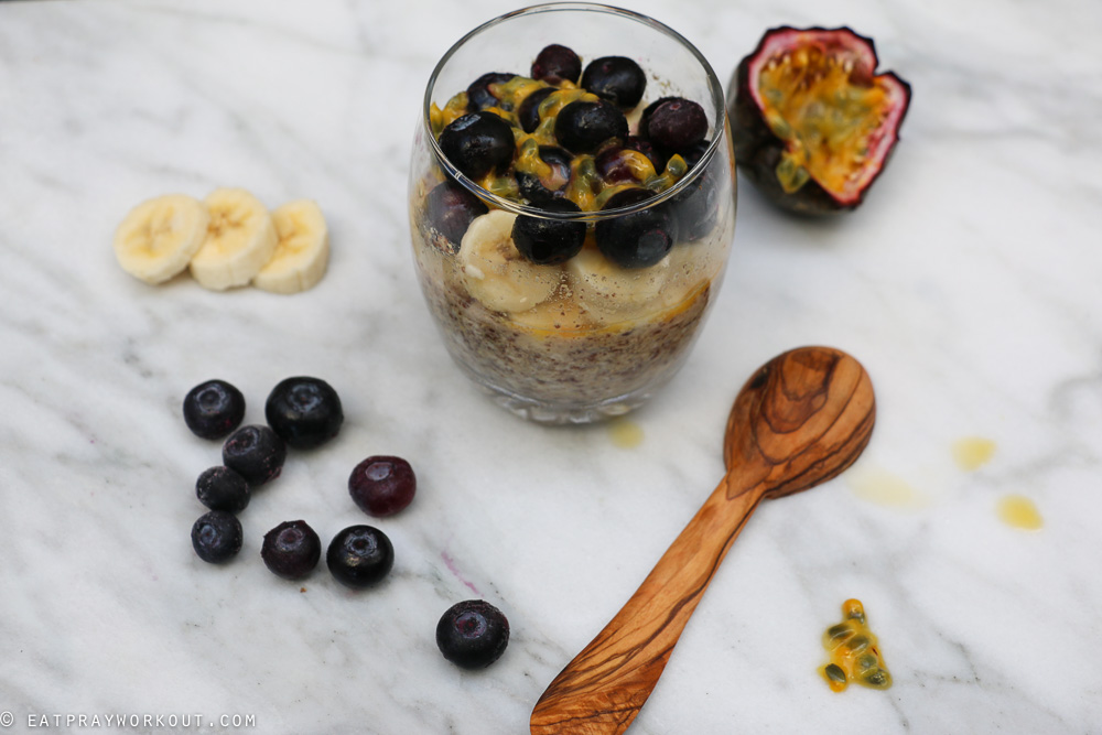 LSA Overnight Oats with Banana blueberry and passionfruit-3