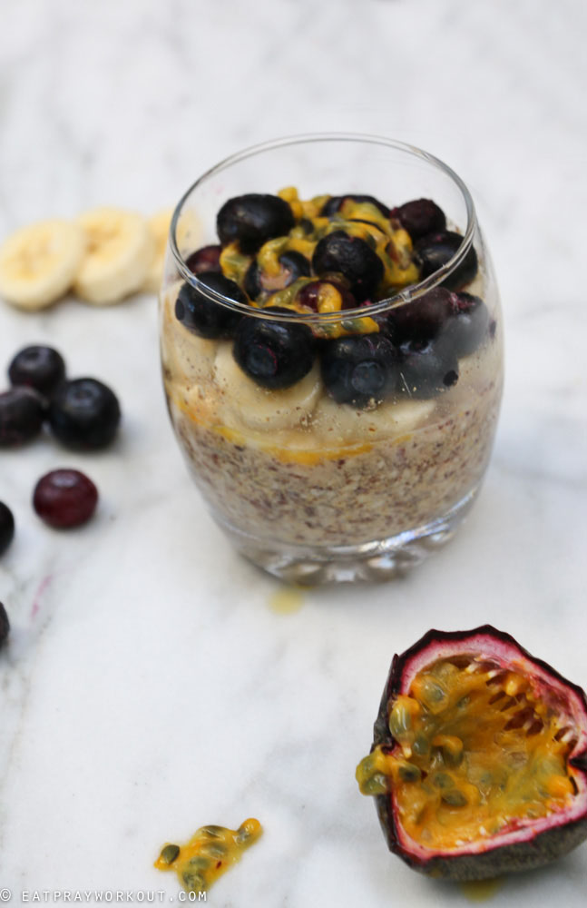 LSA Overnight Oats with Banana blueberry and passionfruit-5