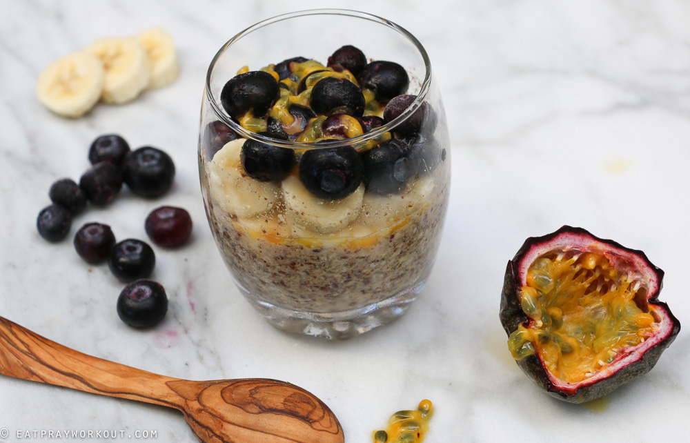 LSA Overnight Oats with Banana blueberry and passionfruit-7