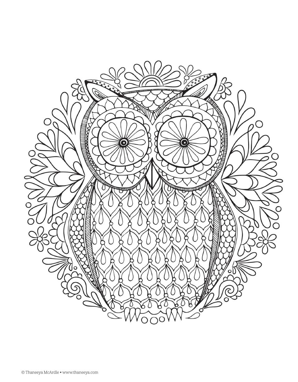 Coloring pages relaxing - Free Colouring In Pages For Adults