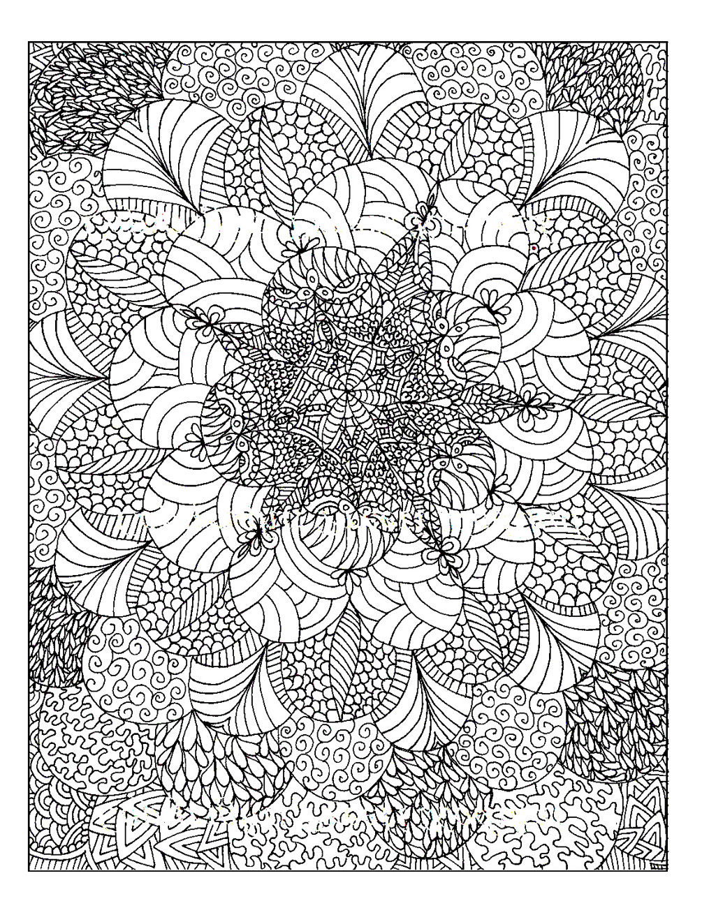 Colouring for adults anti stress colouring printables - Coloriage prin ...