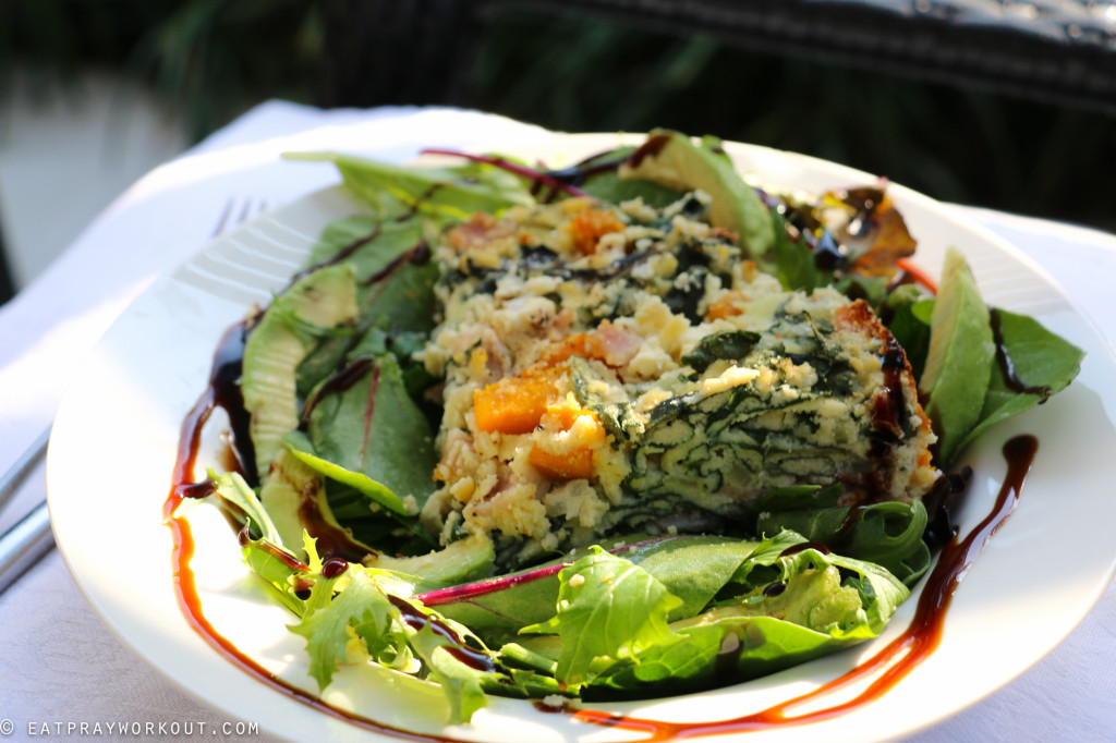 Pumpkin, ricotta and spinach paleo pie eat pray workout