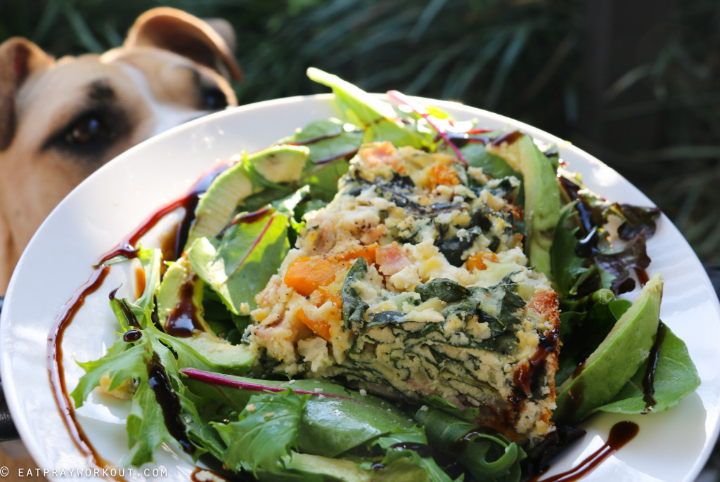 Pumpkin, ricotta and spinach paleo pie eat pray workout-2
