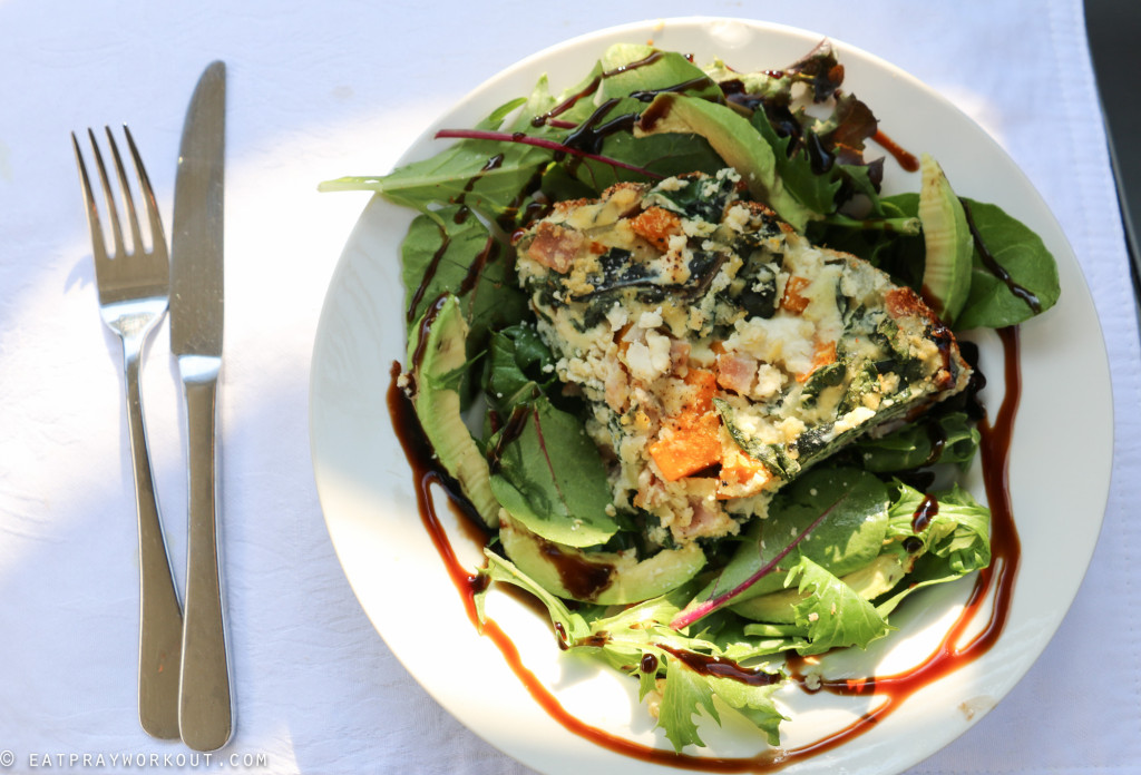 Pumpkin, ricotta and spinach paleo pie eat pray workout-3