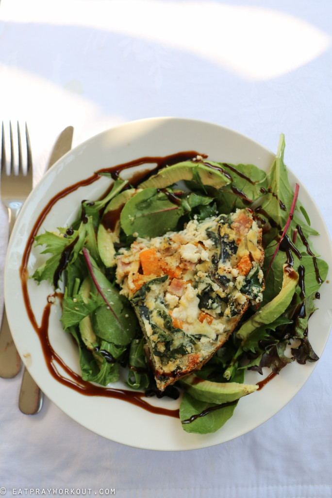 Pumpkin, ricotta and spinach paleo pie eat pray workout-4
