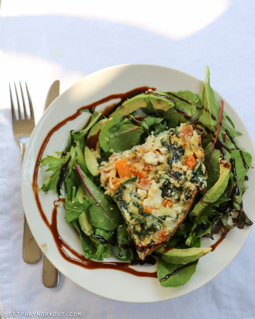 Pumpkin, ricotta and spinach paleo pie eat pray workout-6