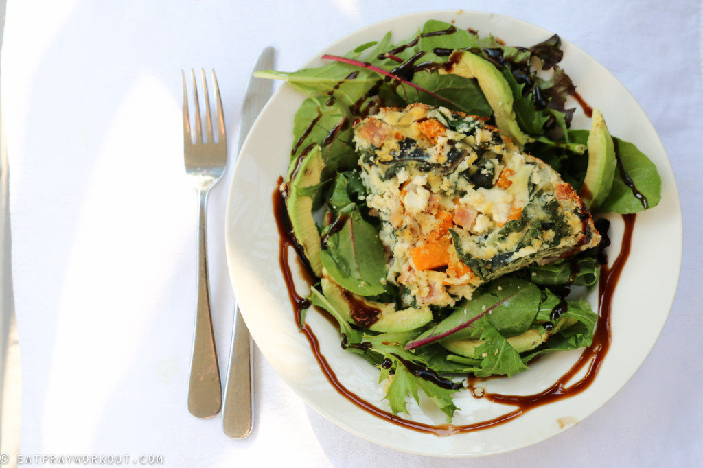 Pumpkin, ricotta and spinach paleo pie eat pray workout-7