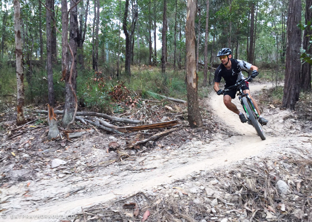 Best Mountain Biking in Brisbane eat pray workout