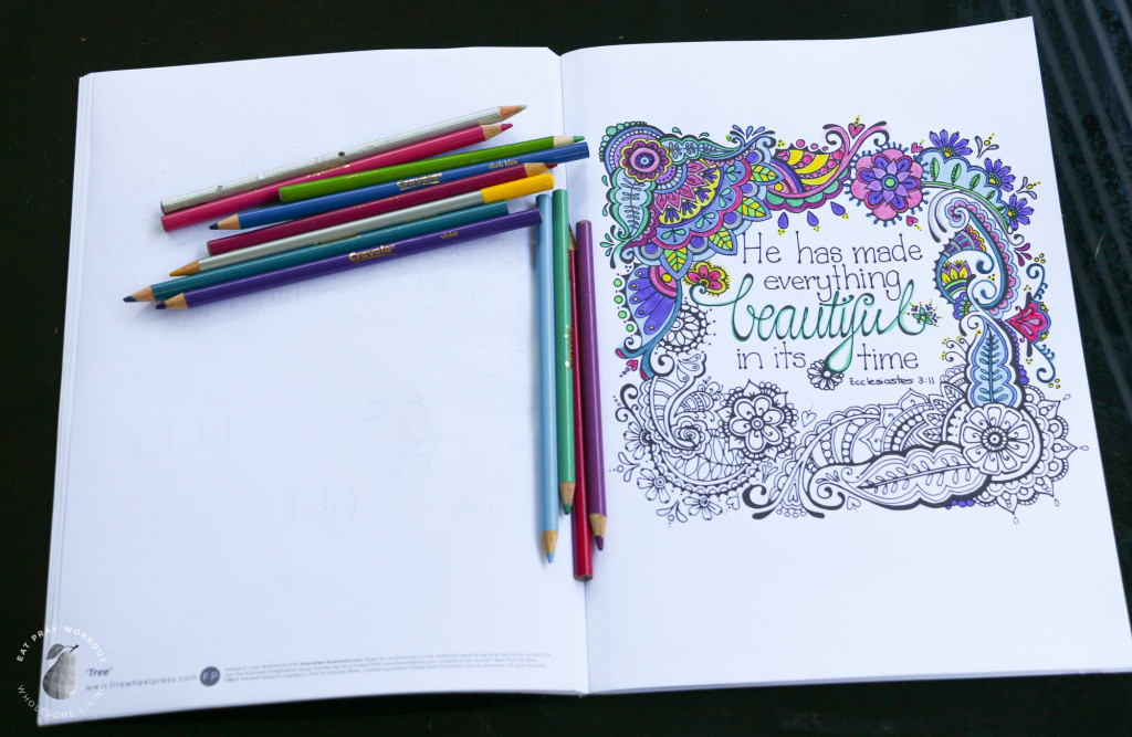Christian Colouring Meditation Eat Pray Workout_