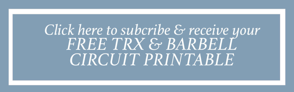 free TRX & barbell circuit printable