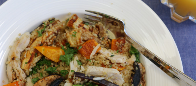 Quinoa Chicken and Roast Vegetable Salad