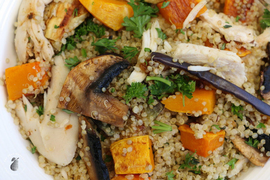 Quinoa chicken and roast vege salad Eat Pray Workout-5