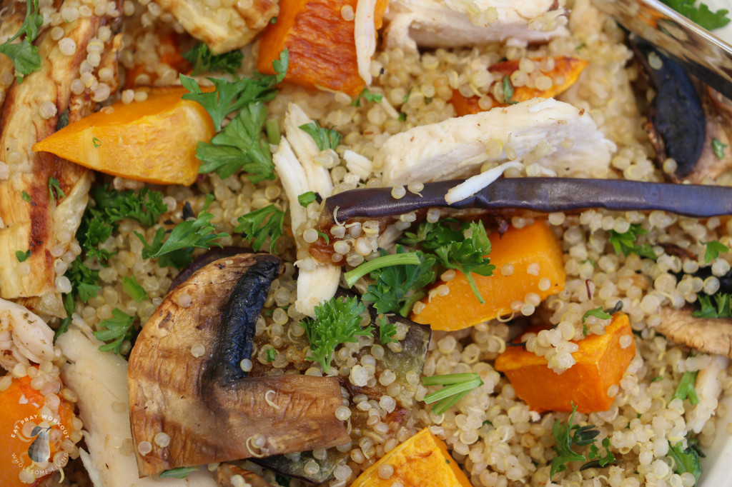 Quinoa chicken and roast vege salad Eat Pray Workout-8