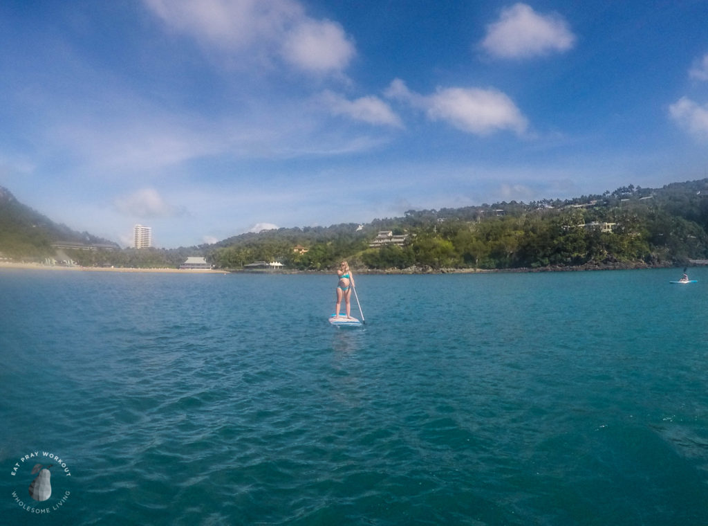 Hamilton Island watersports eat pray workout