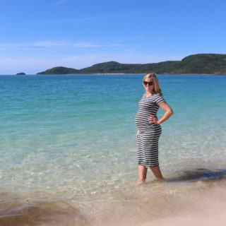 Amy Darcy Australia top health blogger from Eat Pray Workout at Whitehaven Beach, Hamilton Island