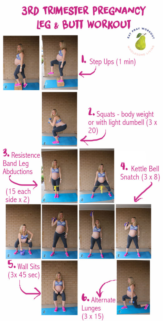 third trimester leg and butt pregnancy workout sml