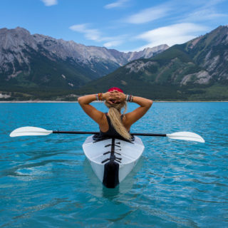 girl in kayak canoe