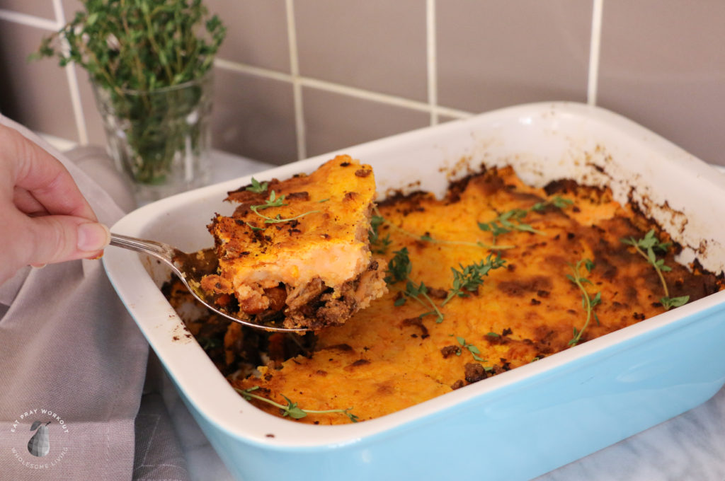 Cooked Healthy Gluten Free Shepherds Pie