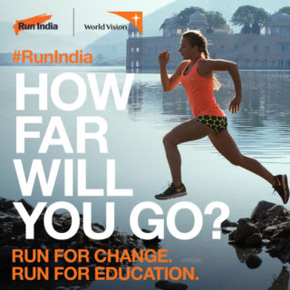 World Vision Run India for change promotion