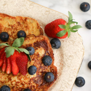 Healthy french toast and fresh berries