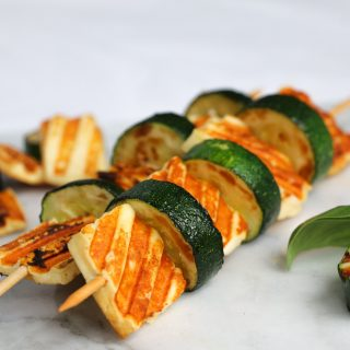 Healthy Halloumi and Zucchini Skewers