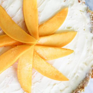 Fresh healthy Raw Mango Shortcake Pie
