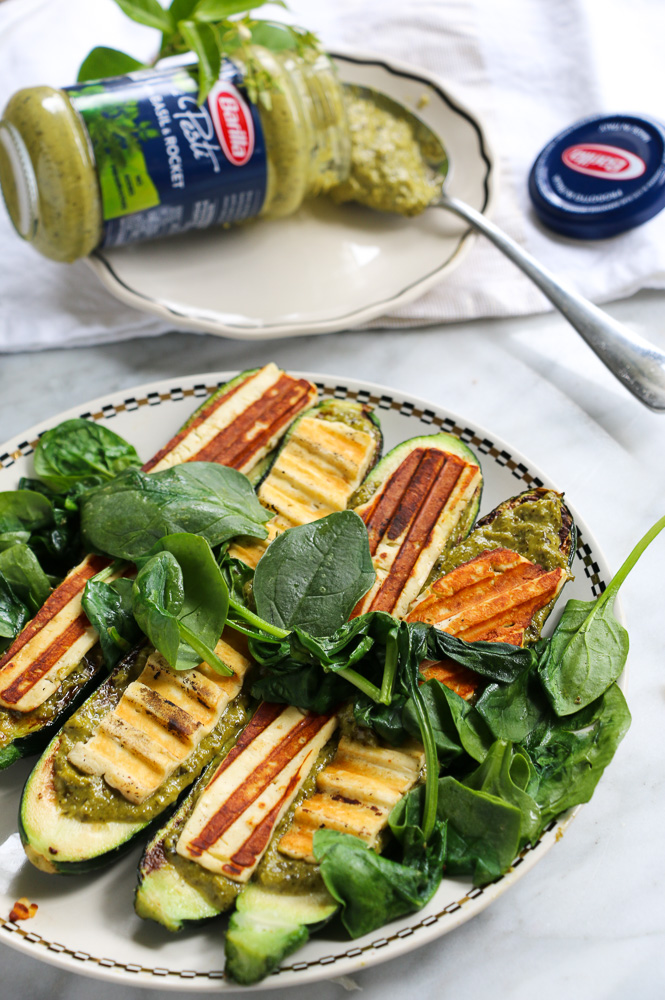 barilla-pesto-on-zucchini-with-haloumi
