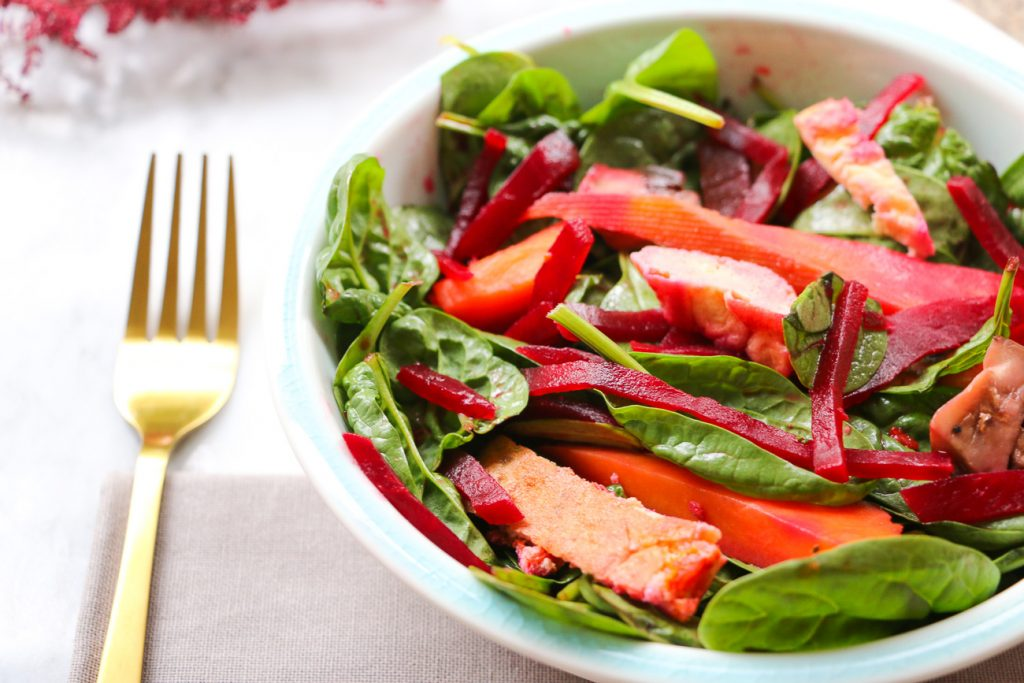Zesty Tofu, Beetroot and Sweet Potato Salad Recipe
