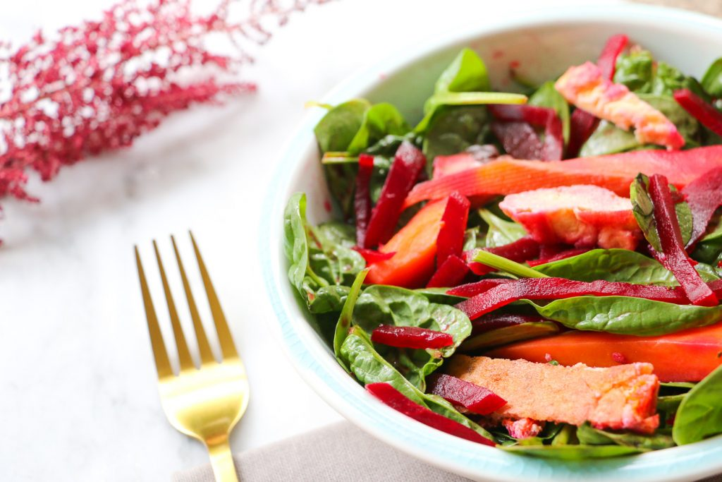 Tofu, Beetroot and Sweet Potato Salad Recipe
