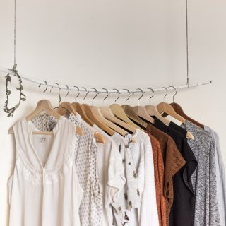 stylish simple wardrobe single rack