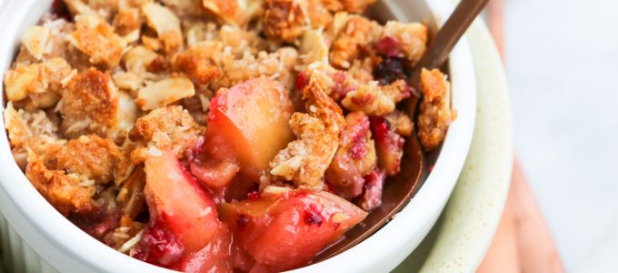 Healthy Raspberry and Apple Crumble Topping Recipe