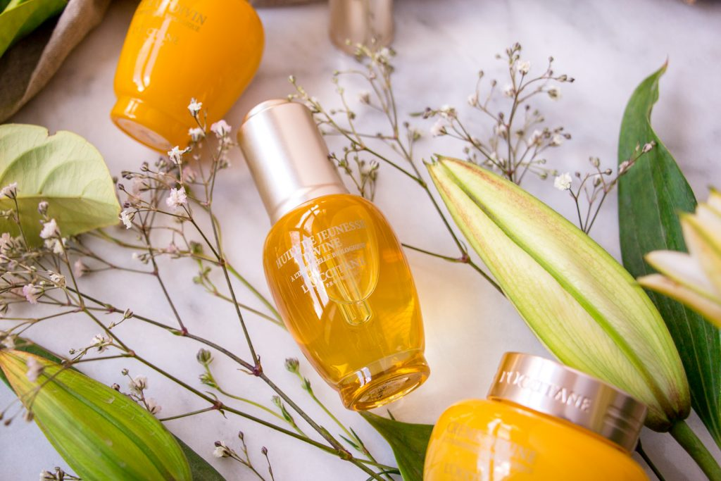 l'occitane immortelle divine youth oil review winter skincare facial products with flowers