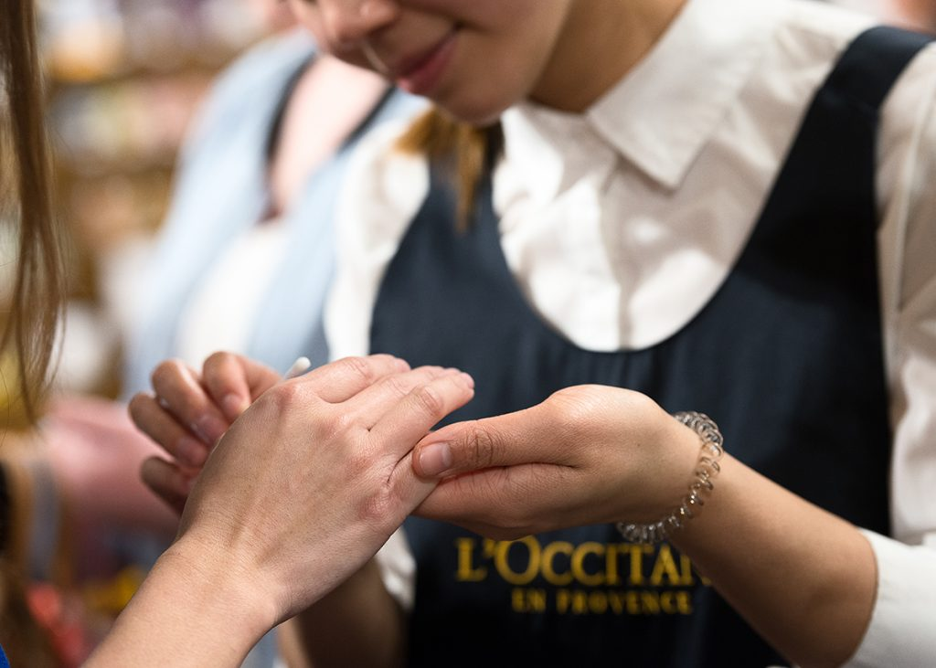 l'occitane hand massage hand cream canberra beauty centre opening