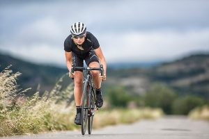 Australian Triathlete Grace Musgrove long distance marathon cycling on bike