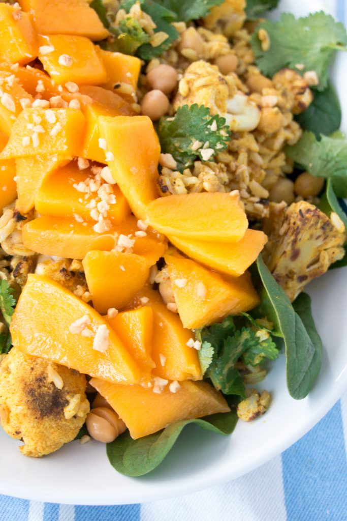 Mango, Cauliflower and Coconut Curry Rice
