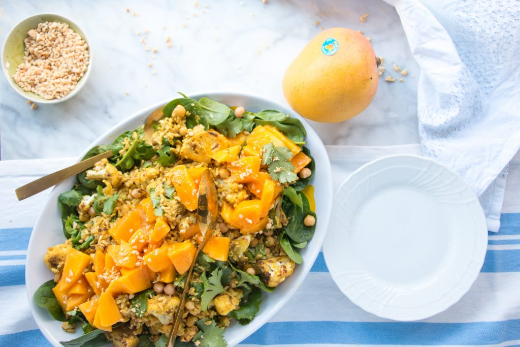 Mango, Cauliflower and Coconut Curry Rice recipe