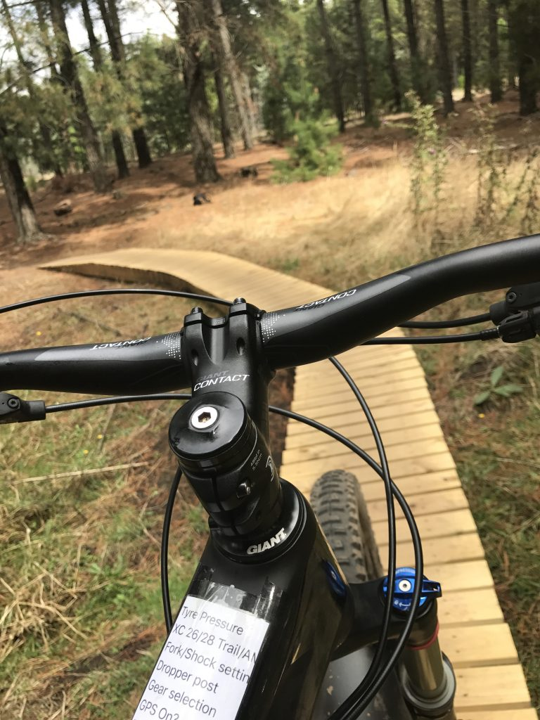 Mountain biking in Canberra Majura Pines trails Barry and Barry into Planet Claire