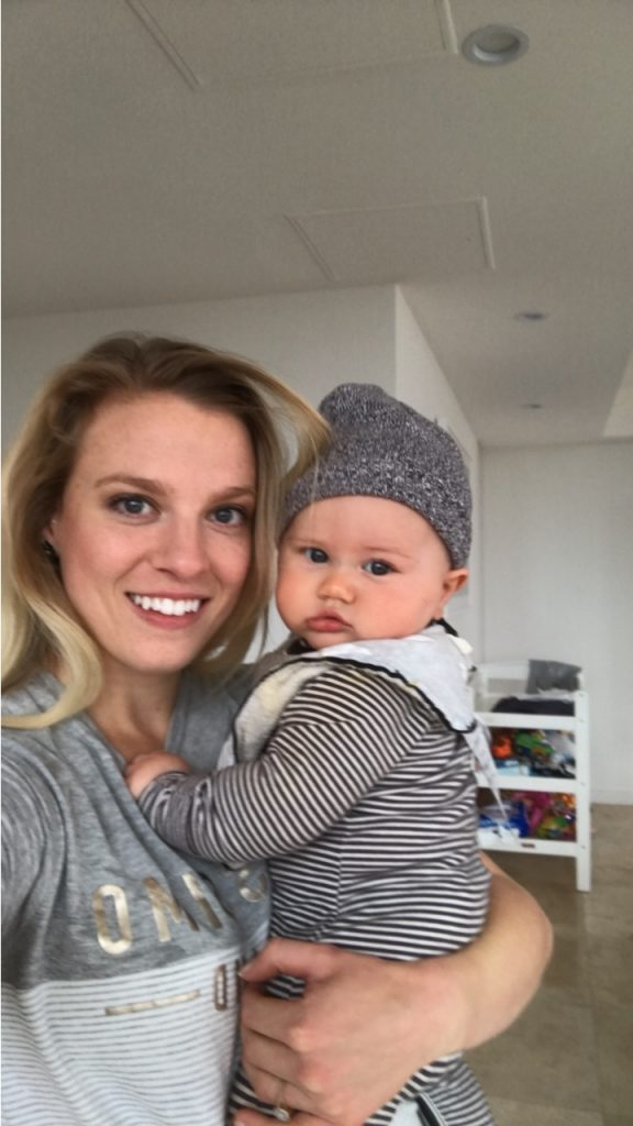 rachael finch's son dom with Amy Darcy eat pray workout