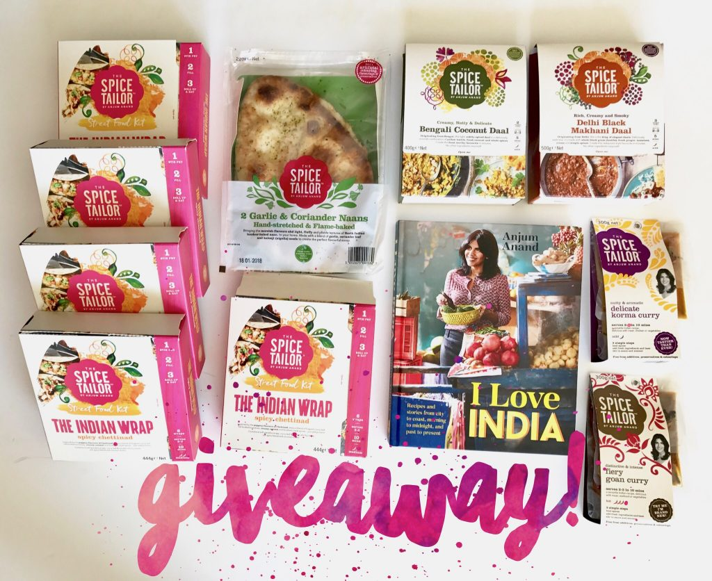 how to make indian healthier with celebrity chef Anjum Anand cookbook and the spice taylor range giveaway