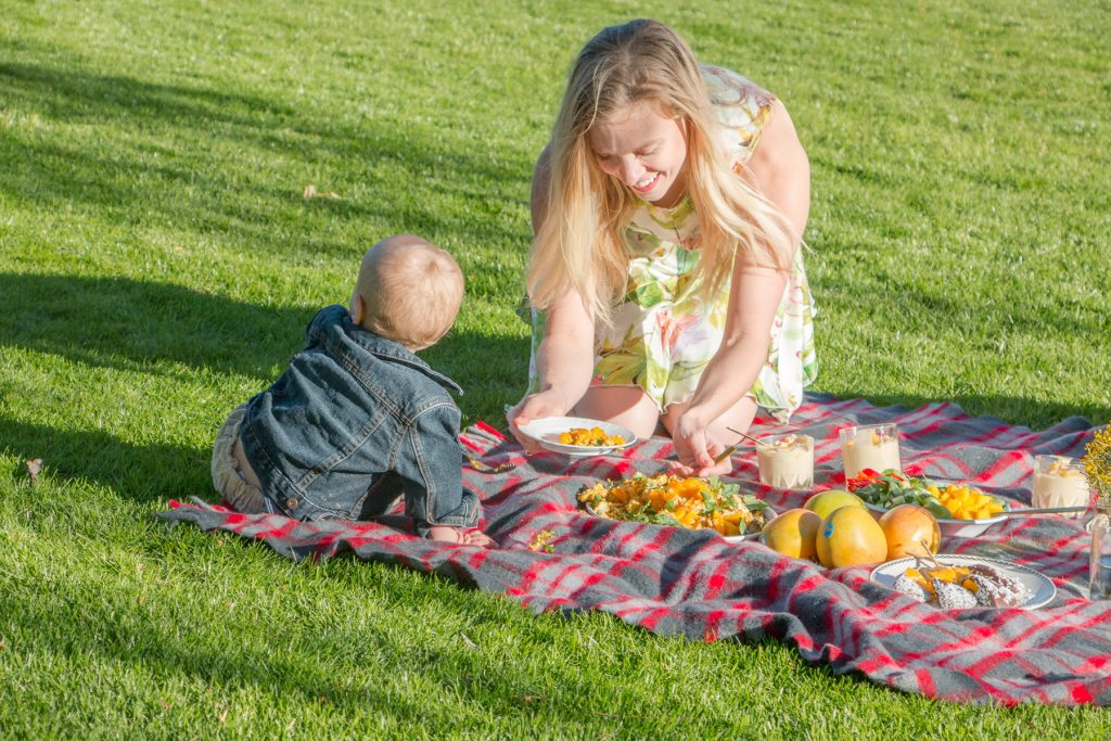 mangoes family picnic eat pray workout amy darcy finn